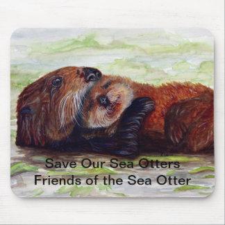 Amigos de la nutria de mar Mousepad #2 Tapete De Ratón