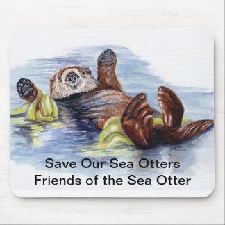Amigos de la nutria de mar Mousepad Tapetes De Ratones