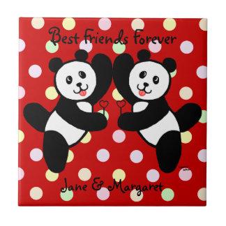 Amigos de la panda de BFF Tejas Ceramicas