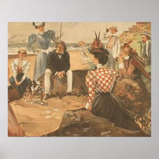 Amigos de la playa de la CAMISETA Poster