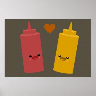 Amigos de la salsa de tomate y de la mostaza impresiones