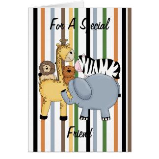 Amigos de la selva tarjeta de felicitación
