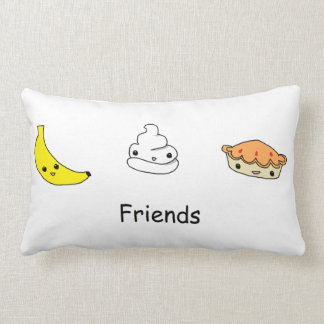 Amigos de la tarta de crema del plátano cojin