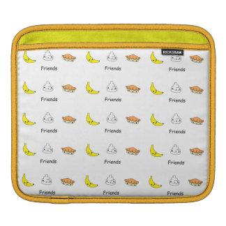 Amigos de la tarta de crema del plátano fundas para iPads