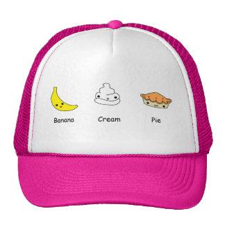 Amigos de la tarta de crema del plátano gorro de camionero