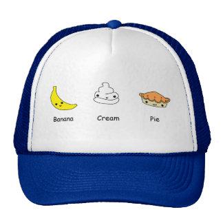 Amigos de la tarta de crema del plátano gorros bordados