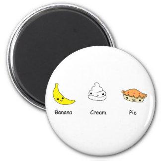 Amigos de la tarta de crema del plátano imán para frigorifico