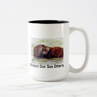 Amigos de la taza de la nutria de mar