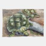 Amigos de la tortuga toalla de mano