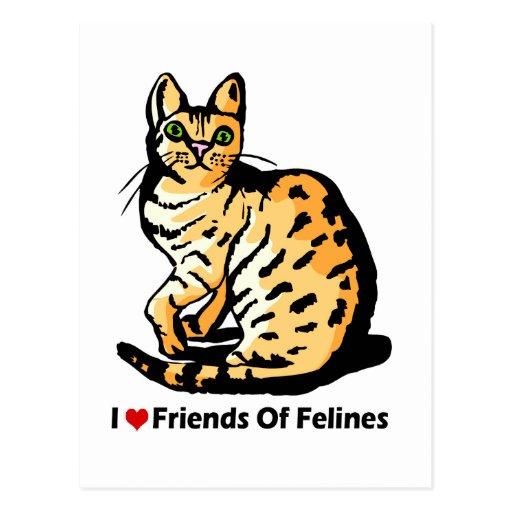 Amigos de los diseños del gato de Felines Postales