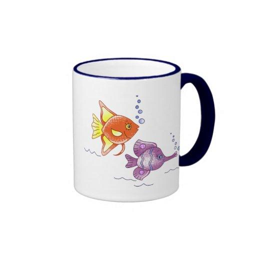 Amigos de los pescados taza a dos colores