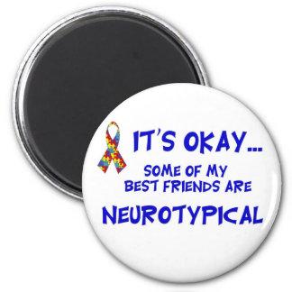Amigos de Neurotypical Imán Redondo 5 Cm