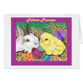Amigos de Pascua tarjeta (Easter Friends card)