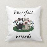 Amigos de Purrrfect del gato Cojin