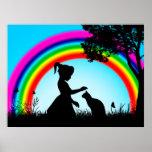 Amigos debajo del arco iris poster