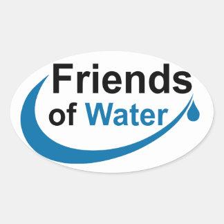 Amigos del agua pegatina ovalada