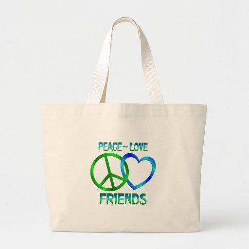 Amigos del amor de la paz bolsa