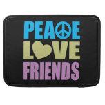 Amigos del amor de la paz fundas para macbook pro
