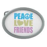 Amigos del amor de la paz hebilla de cinturon oval