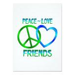 Amigos del amor de la paz invitación 12,7 x 17,8 cm