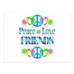 Amigos del amor de la paz postal