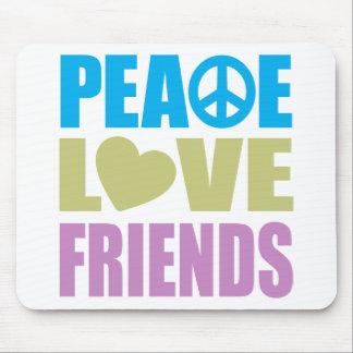 Amigos del amor de la paz tapetes de raton