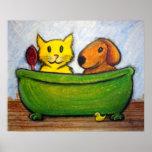 Amigos del baño poster