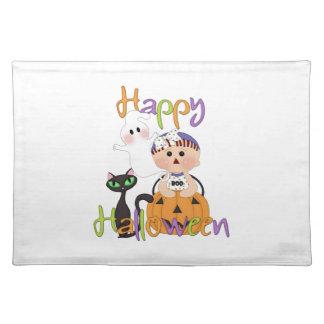 Amigos del bebé del feliz Halloween Mantel Individual