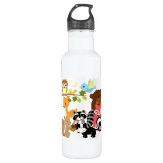 Amigos del bosque botella de agua