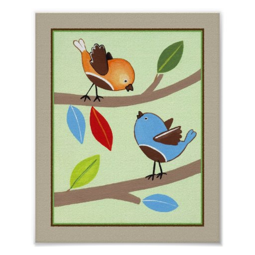 Amigos del bosque - pájaros posters