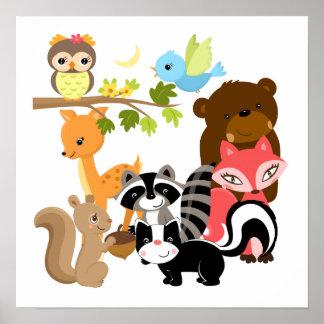 Amigos del bosque póster
