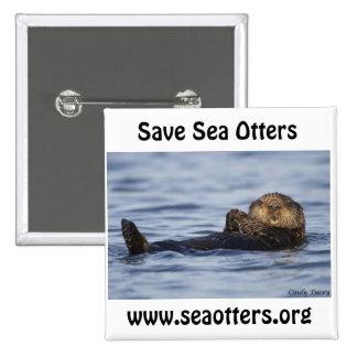 Amigos del botón de la nutria de mar pins