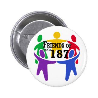 Amigos del botón de PS/IS 187 Pin
