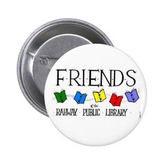 Amigos del botón grande de la biblioteca pública d pin redondo de 2 pulgadas