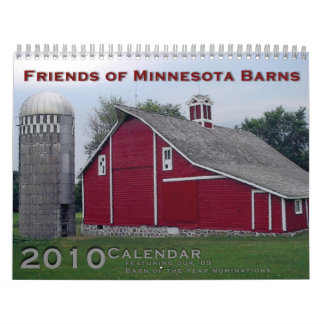 Amigos del calendario de los graneros 2010 de Minn
