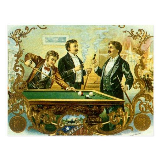 Amigos del club del arte de la etiqueta del cigarr postal