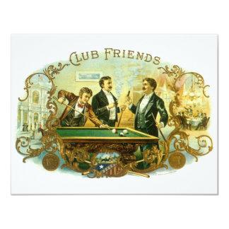 Amigos del club del arte de la etiqueta del invitación 10,8 x 13,9 cm