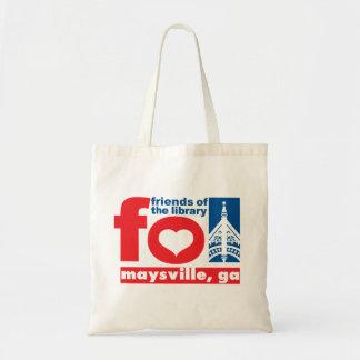 Amigos del delantal de la biblioteca pública de Ma Bolsa Lienzo