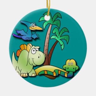 Amigos del dinosaurio ornamentos de reyes