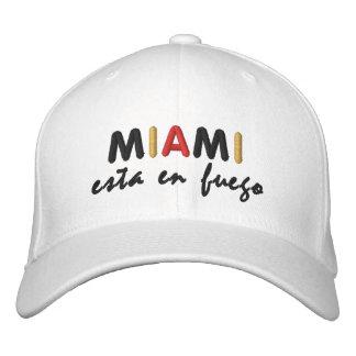 ¡Amigos del en Fuego de Miami Esta! Gorra De Béisbol Bordada
