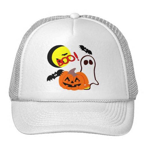 Amigos del fantasma de Halloween Gorras