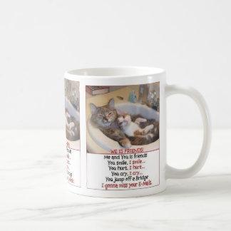 Amigos del gato tazas