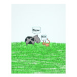 Amigos del gato y de la vaca membretes personalizados