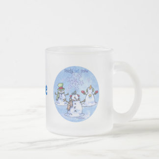 Amigos del invierno - muñecos de nieve taza de cristal