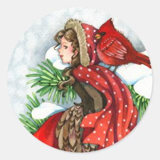 Amigos del invierno - pegatinas cardinales del chi