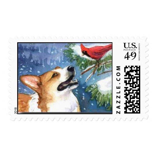 Amigos del invierno sello postal