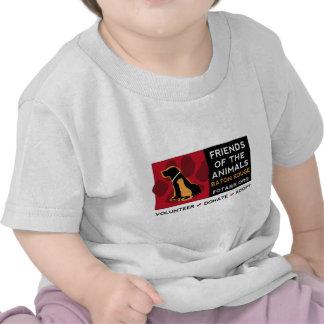 Amigos del logotipo horizontal de los animales en camisetas