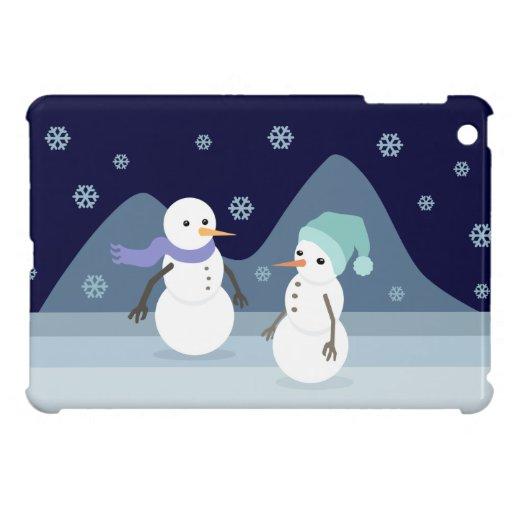 Amigos del muñeco de nieve iPad mini carcasas