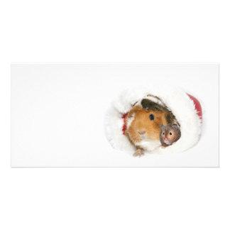 Amigos del navidad tarjetas fotográficas