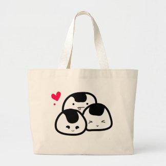 amigos del onigiri bolsa de tela grande